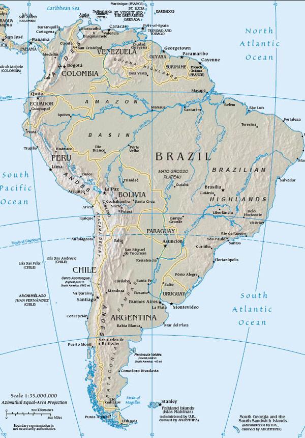 Mapa Jizni Ameriky Chile Mesta Fotogalerie Samuraj Cz Com