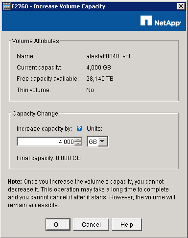 NetApp SANtricity - Increase Capacity