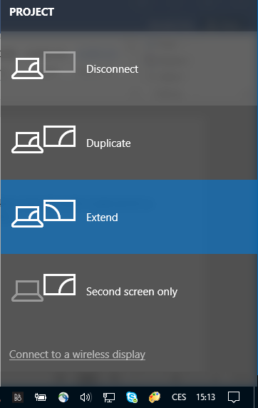 Windows 10 Disconnect from a wireless display