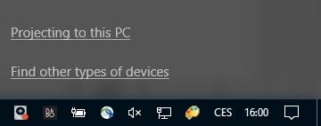 Windows 10 Projecting to this PC