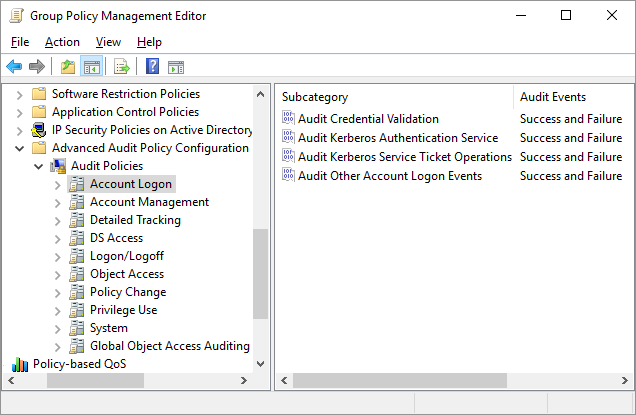 Advanced Security Audit Policies