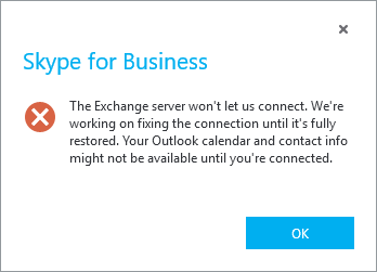 Skype for Business klient chyba integrace 3