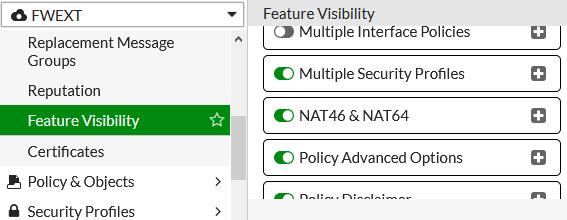 FortiGate - Feature Visibility - NAT46 & NAT64